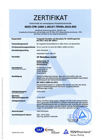 Zertifikat EN1090